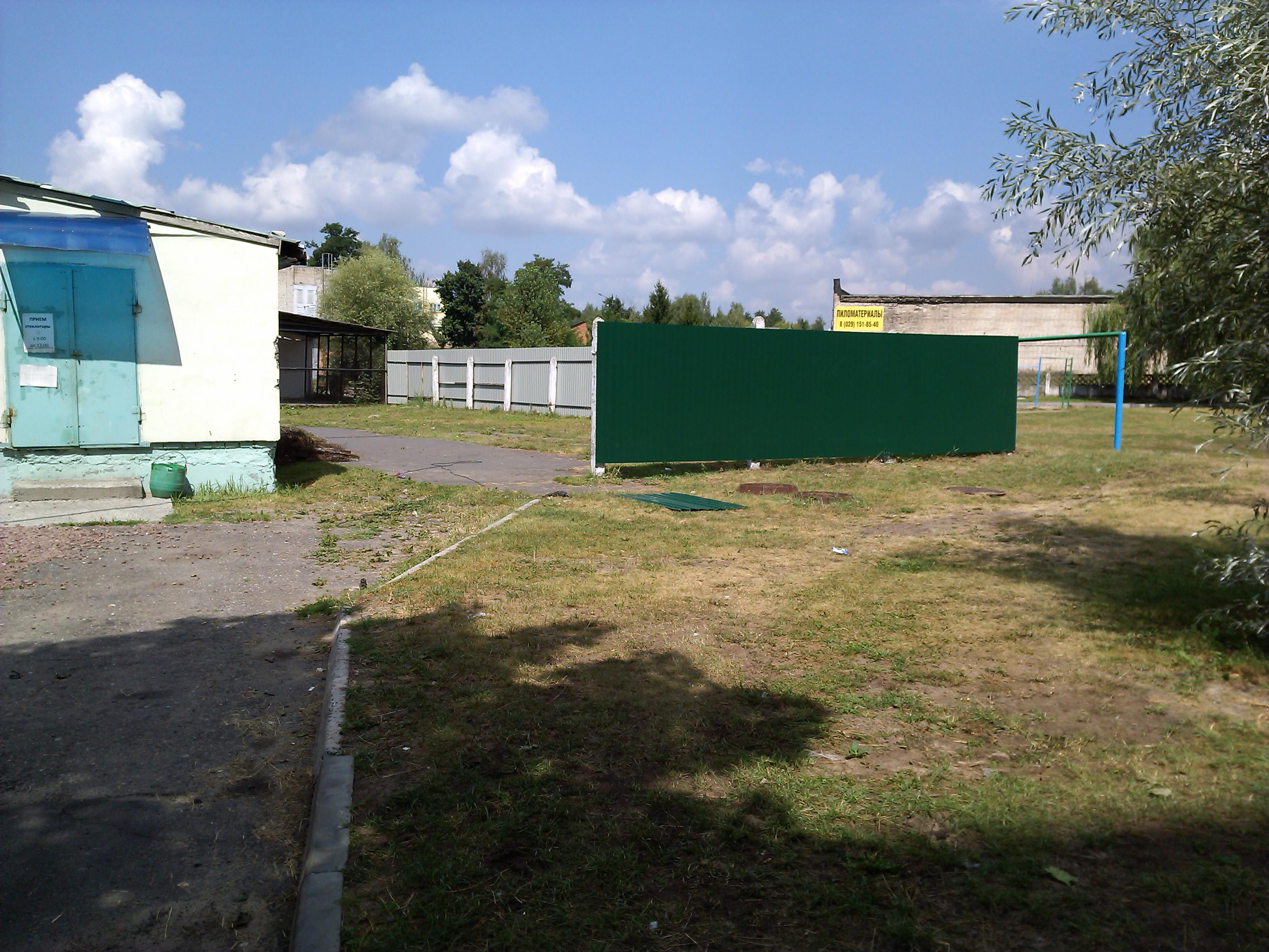 Забор из металлопрофиля в г.Гомель